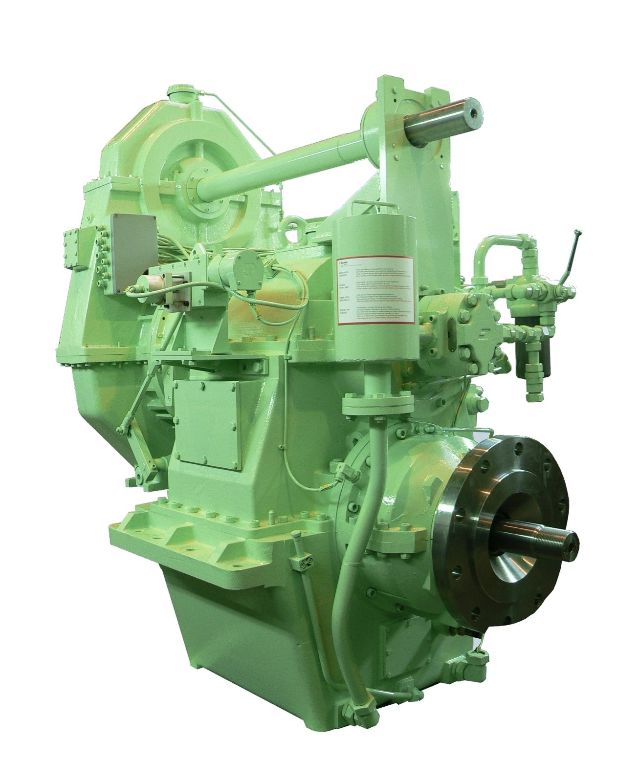 Hydraulic Drive Gearboxes : Gearbox for ship hydraulic controlled propeller drive wikov