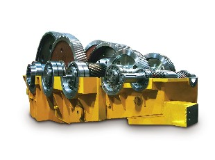 Gearbox for excavator jib elevation and extension