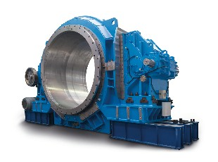 Horizontal ball mill driven by two SD 2.0 MW gearboxes